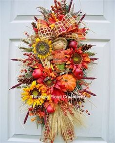 Welcome - Timeless Floral Boutique Fall Swags, Fall Wreaths, Diy Wreath, Grapevine Wreath, Fall Projects, Projects To Try, Fall Crafts, Christmas Crafts, Fall Scarecrows