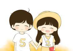 Love Cartoon Couple, Chibi Couple, Cute Couple Art, Anime Love Couple, Cute Cartoon, Cute Couples, Cute Couple Wallpaper, Chibi Wallpaper, Sketches Of Love