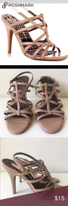 Jessica Simpson Nude Heels Super cute and on trend!  Worn only a handful of times. Non smoking and pet free home. Jessica Simpson Shoes Sandals