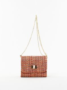 Woven Cross-body Bag in Orange