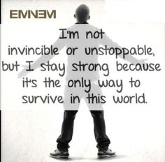 """Eminem's quote  """"NO Return""""                                                                                                                                                                                 More"""
