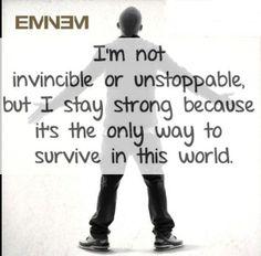 """Eminem's quote  """"NO Return"""""""