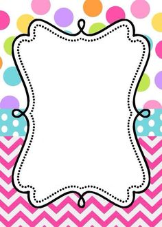 Invitaciones colores Borders For Paper, Borders And Frames, Free Frames, Diy And Crafts, Paper Crafts, Invitation Background, Frame Background, Freebies, Binder Covers