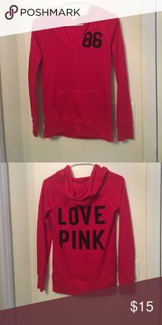 Pink SleepWear LongSleeve In like new condition Size Small PINK Victoria's Secret Tops Tees - Long Sleeve