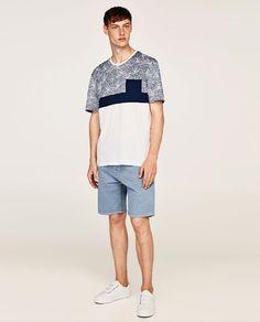 ZARA - HOMBRE - CAMISETA ESTAMPADA Polo Shirt Style, T Shirt, Sport Casual, Short Sleeves, Normcore, Sporty, Embroidery, Denim, Fashion