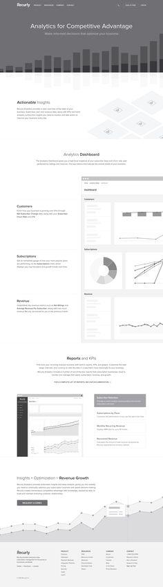 Recurly analytics wireframe
