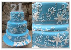 winter wonderland 1 tier cakes   The wooden SPOON: winter wonderland cake