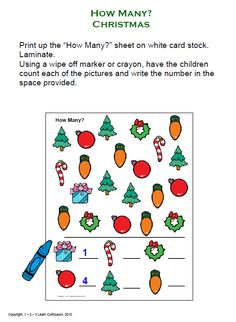 Christmas math counting activity to use during your Christmas theme. Christmas Maths, Kindergarten Christmas, Family Child Care, Letter To Parents, Early Math, Winter Crafts For Kids, Holiday Themes, School Parties, Early Childhood Education