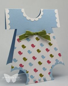 North Shore Stamper. I've made onsie cards before, but not with dsp. Cute!