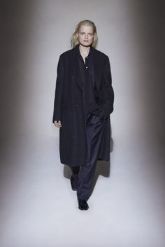 The Olsen twins latest collection concentrated on fabrication, finishes and a series of coats for the label's ardent cult.