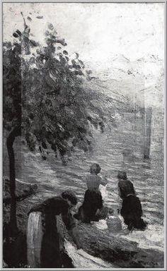 Le Lavandaie Mario Tozzi 1913: Le Lavandaie. Olio su Tela cm.54x34 - Collezione Privata Roma - Archivio Numero 2259.