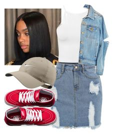 """""""Black Beatles"""" by tflowerchild ❤ liked on Polyvore featuring NLY Trend, High Heels Suicide, Vans, NIKE and Inspired"""