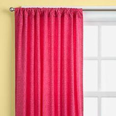 Hot Pink Crosshatch Curtain Panels