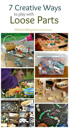 7 Creative Ways to Play with Loose Parts | Be inspired to try a new way of playing with loose parts today. 7 favourite activities for kids!