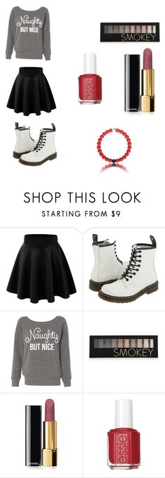 """Untitled #20"" by khay17 ❤ liked on Polyvore featuring moda, Dr. Martens, Forever 21, Chanel y Essie"