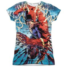 Flash: Ripping And Tearing Sublimated Junior T-Shirt