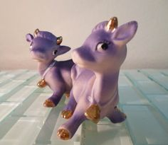 Vintage Purple Cow Salt and Pepper Shakers by VintageAndOddities Salt Pepper Shakers, Salt And Pepper, Purple Cow, Cow Creamer, All Things Purple, Pink Elephant, Cow Print, Love People, Cool Items