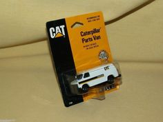 ertl cat caterpillar parts van new 1989 7704 1 64 scale die cast white black ertl. Black Bedroom Furniture Sets. Home Design Ideas