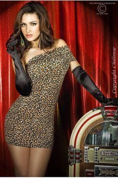 4262d9ba8d94 Φόρεμα- Chilirose Animal Print Dress CR-3322-Brown Θέμα Τσιτάχ
