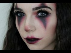 Creepy/Cute Halloween Clown Makeup - YouTube