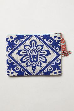 Beaded Bali Pouch - Anthropologie.com #blue #boho