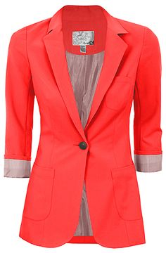 coral blazer, pair it with a sparkly tank top, skinny jeans, and leopard flats and whoa-la #teachingoutfit