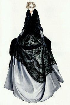 Jacqueline Durran costume design sketch for 'Anna Karenina'