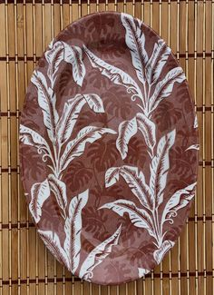 """TEPCO Chocolate Palm 16"""" Serving Platter"""