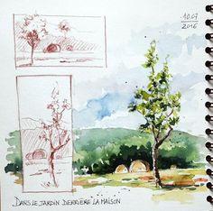 Watercolor Trees, Watercolor Landscape, Abstract Watercolor, Watercolor And Ink, Watercolor Paintings, Drawing Journal, Watercolor Sketchbook, Artist Journal, Art Sketchbook