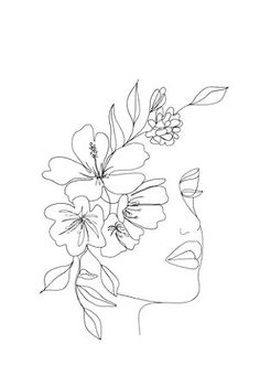women line drawing face \ women line drawing ; women line drawing face ; women line drawing simple ; women line drawing tattoo Drawing Sketches, Art Sketches, Art Drawings, Line Drawing Art, Drawing Tips, Flower Art Drawing, Abstract Sketches, Minimal Drawings, Hipster Drawings
