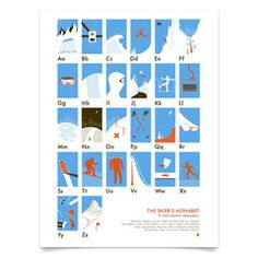 Hey, look what I found! Check out The Skier's Alphabet by My Outdoor Alphabet on Bezar