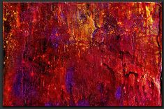 """Abstract Painting """"Temptations"""" by Dora Woodrum Size 60"""" x 48"""" www.NiceModernArt.com"""