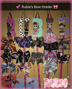 My daughter's LOL Surprise Dolls Bow Holder 100 Days Of School, Back To School, Cute School Supplies, Wood Letters, School Shirts, Cute Bows, Diy For Girls, School Fashion, Elementary Schools