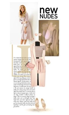 """New Nudes"" by tinayar ❤ liked on Polyvore featuring Serefina, River Island, Miss Selfridge, Nly Shoes, Karl Lagerfeld and Alexis Bittar"