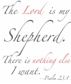 Psalm 23:1 by diva50