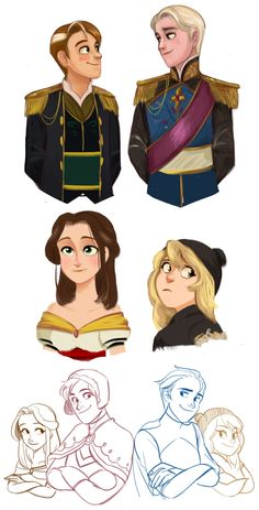 Genderbent Frozen | Ahh! I think this is the best I've ever seen their outfits! Kudos to the artist! (The outfits look more realistic for boys... sometimes they look too girly. XD)