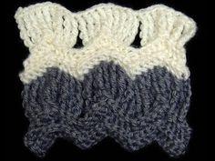 Crochet : Punto Clasico de Ondas en Abanico. Parte 2 de 2 - YouTube