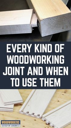Woodworking Joints: Which Wood Joints Should You Use? - There are so many different kinds of woodworking joints, it's hard to know what to use. Types Of Woodworking Joints, Woodworking Jigsaw, Cool Woodworking Projects, Learn Woodworking, Woodworking Techniques, Popular Woodworking, Woodworking Plans, Woodworking Equipment, Types Of Wood Joints