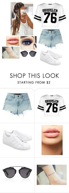"""""""Sin título #374"""" by burusa2 ❤ liked on Polyvore featuring T By Alexander Wang, Boohoo, adidas Originals, LASplash and Christian Dior"""