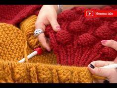Sibel Kavaklıoğlu, Ezgi Sertel audience to the construction of bubble cardigan . Baby Knitting Patterns, Knitting Videos, Crochet Videos, Knitting Stitches, Hand Knitting, Crochet Patterns, Knitting Projects, Crochet Hooded Scarf, Gilet Crochet