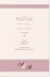 lavender monogram Invitations & Announcements