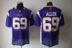 Nike NFL Jerseys Minnesota Vikings Jared Allen #69 Purple