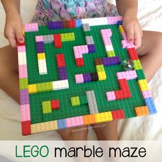 Marble Lego maze is requires motor planning, or praxis for completion. This goal of this activity is to get a marble out of the maze while utilizing fine motor, visual motor, and sensory input. Lego Club, Legos, Toddler Activities, Activities For Kids, Lego Maze, Marble Maze, Lego Challenge, Motor Planning, Lego For Kids