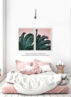 Palm Leaf Print Printable Gift Her Boho Bedroom Decor Above Bed Art Digital Bedroom Wall Decor Above Bed, Tree Bedroom, Boho Bedroom Decor, Bedroom Colors, Bedroom Ideas, Bedroom Inspo, Master Bedroom, Botanical Bedroom, Botanical Art