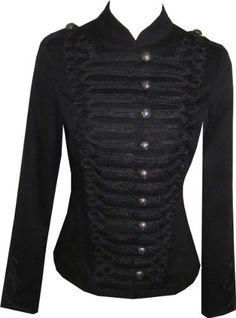 Victorian Black Gothic Military SteamPunk Indie Jacket Coat: Amazon.co.uk: Clothing