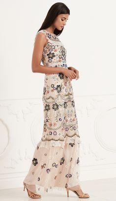 NEEDLE & THREAD Butterfly Garden Maxi Dress