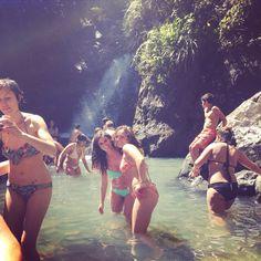 La Mina waterfall in El Yunque. Puerto Rico 2015