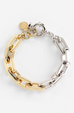 MARC BY MARC JACOBS 'Mini Links' Bicolor Bracelet....love because i love the fact that i can mix metals!