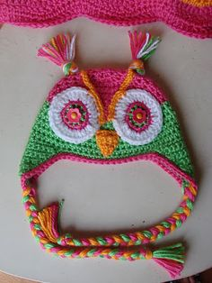 Owl Hat by Crochet in Color