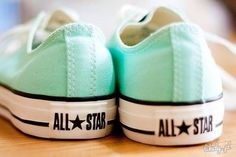 These are soooo pretty! I realllyyy want them! MINT GREEN CONVERSE #allstars